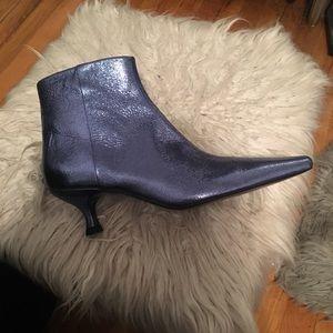 7.5 Metallic Blue Booties